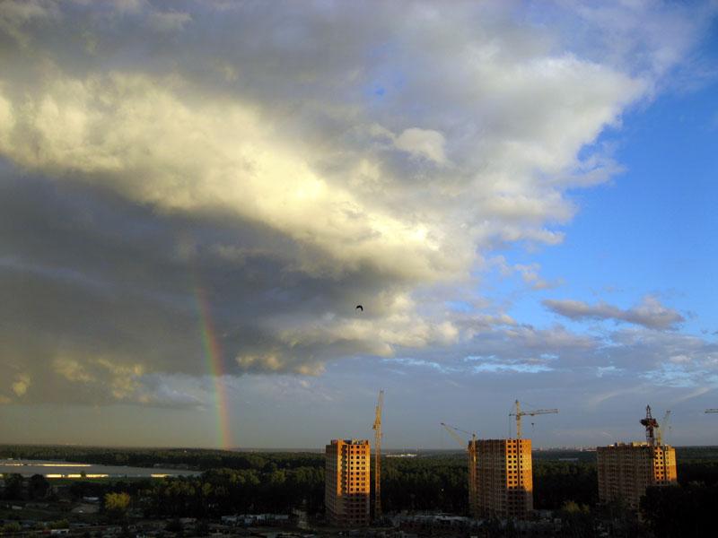 Над ЖК Юго-Западный дождь закончился...