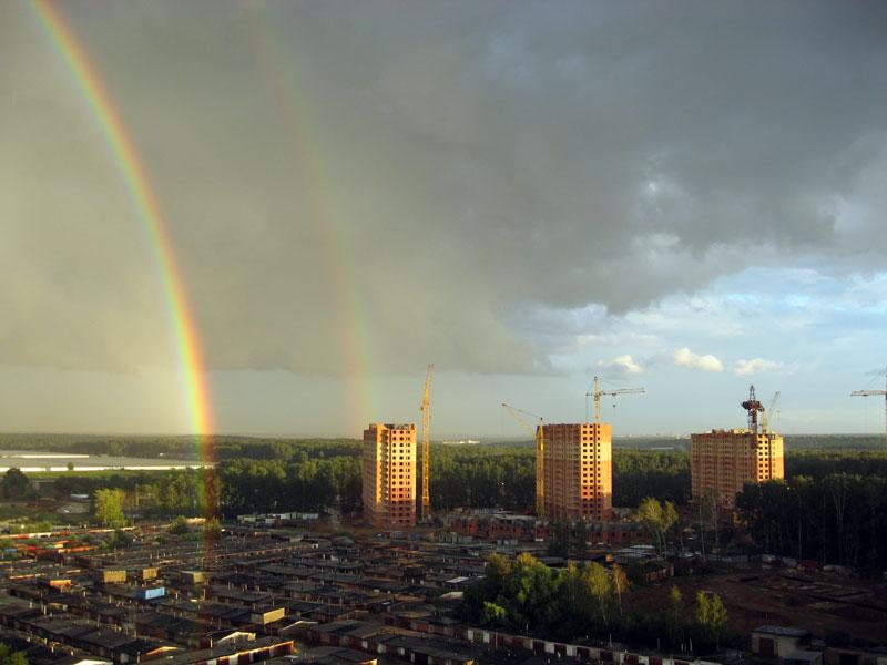 Яркая радуга над Московским