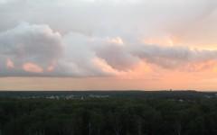 Закат в июне над Мешково