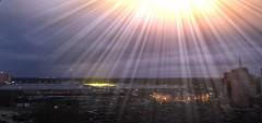 Свечение облаков над Московским