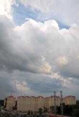 Небо над микрорайоном ЖК Юго-Западный
