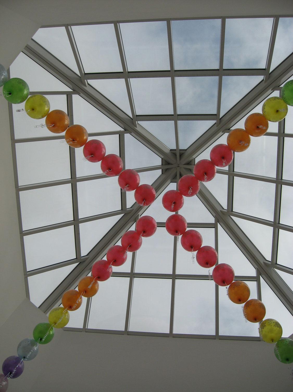 Прозрачный купол над холлом детского сада