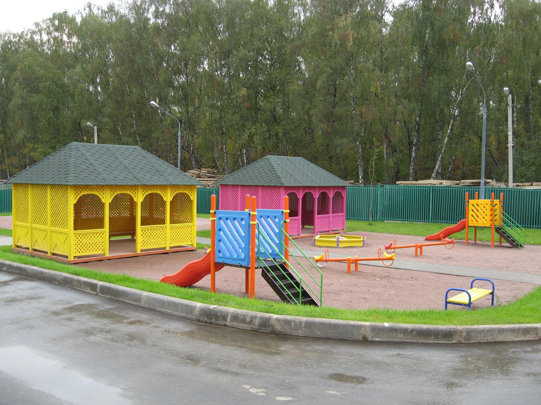 Игровые площадки в новом детском саду