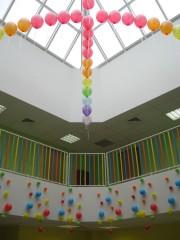 Стеклянный купол над холлом в новом детском саду ЖК Юго-Запа