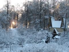 Зима в деревне Мешково