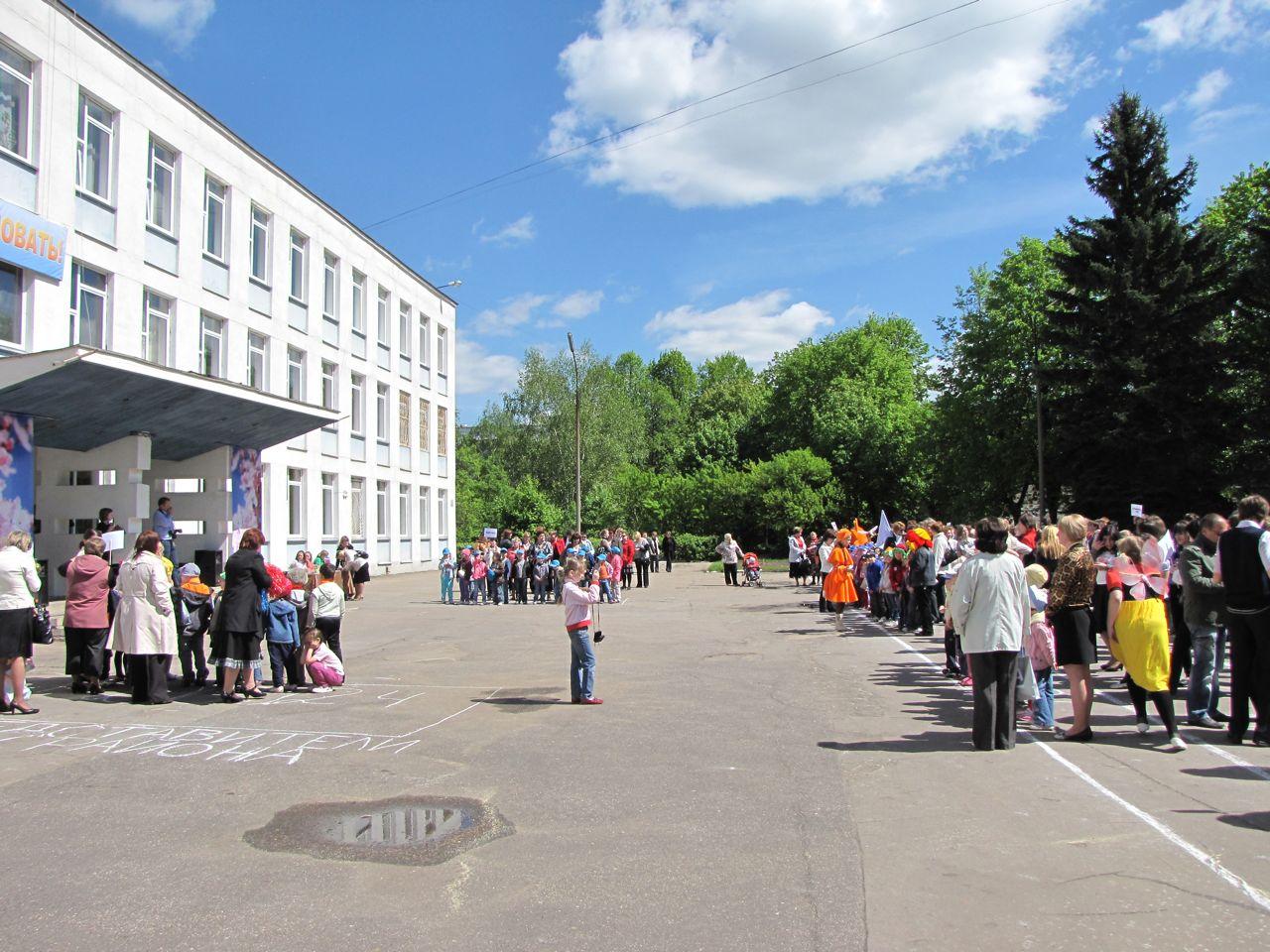 Построение юных экологов Ленинского района