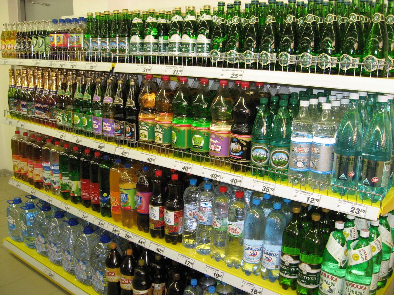 Вода и прочие напитки в Пятерочке