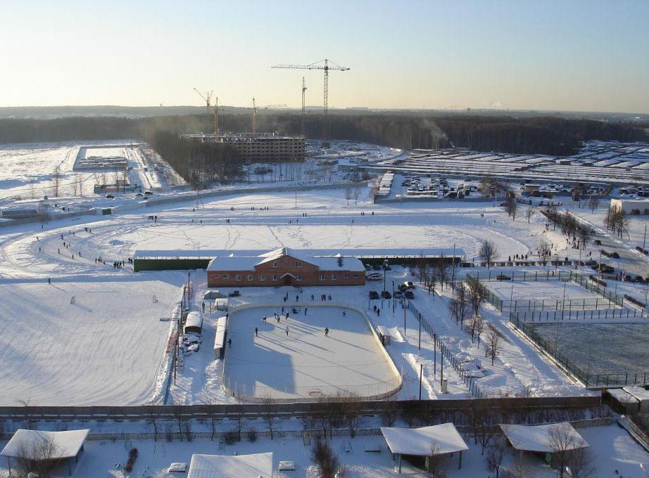 Вид на стадион, город Московский, мкр-н 1