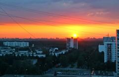 Рассвет в старом городе Московский