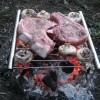 Пара стейков и грибы