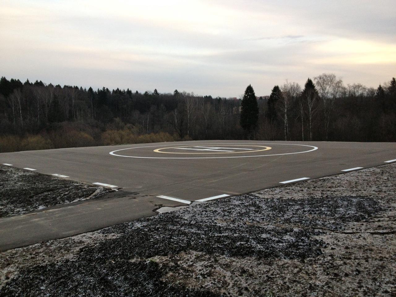 Вертолетная площадка рядом с Мешково