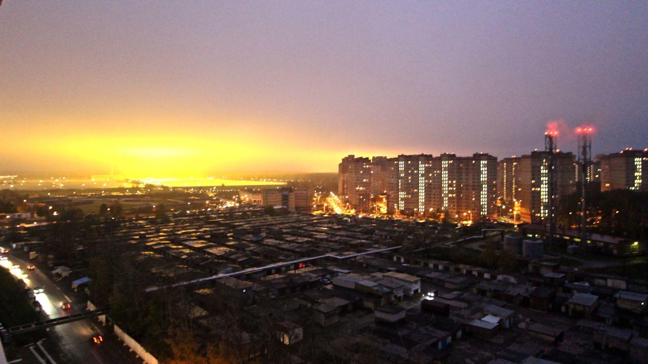 Осеннее утро над ЖК Ю-З
