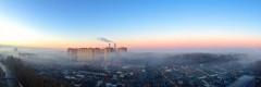 Нас утро встречает туманом