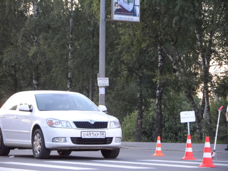 Автомобиль который зафиксировал наезд на видеорегистратор