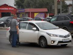 11.09.2014 г., ул. Хабарова, 1 мкр., на против 37 дома, днём сбит пешеход (девушка)