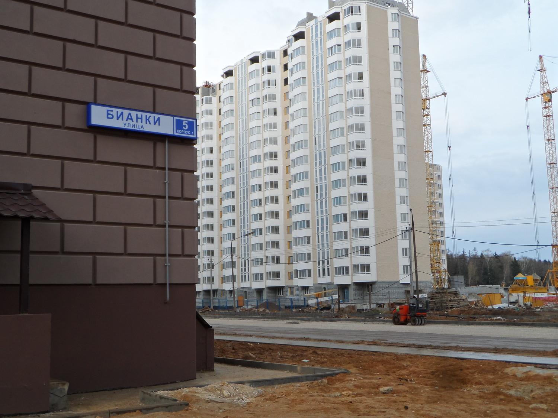 угол дома №5 корп.1 на ул. Бианки