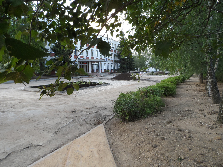 школа № 2063 поселения Московский, благоустройство 30.07.2014