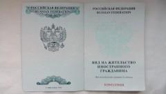 Вид на жительство иностранца (разворот 1-ой страницы удостоверения)