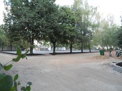 заасфальтированна будущая универсальная спорт площадка между школ 2063 п. Московский