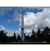 Монумент расположен на главной улице поселка (Большой Внуковской),  напротив торгового центра «Внуково».