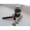 Набор перьев и ручка для туши, тушь-черная,морозоустойчивая до -25С, цена 13 коп.