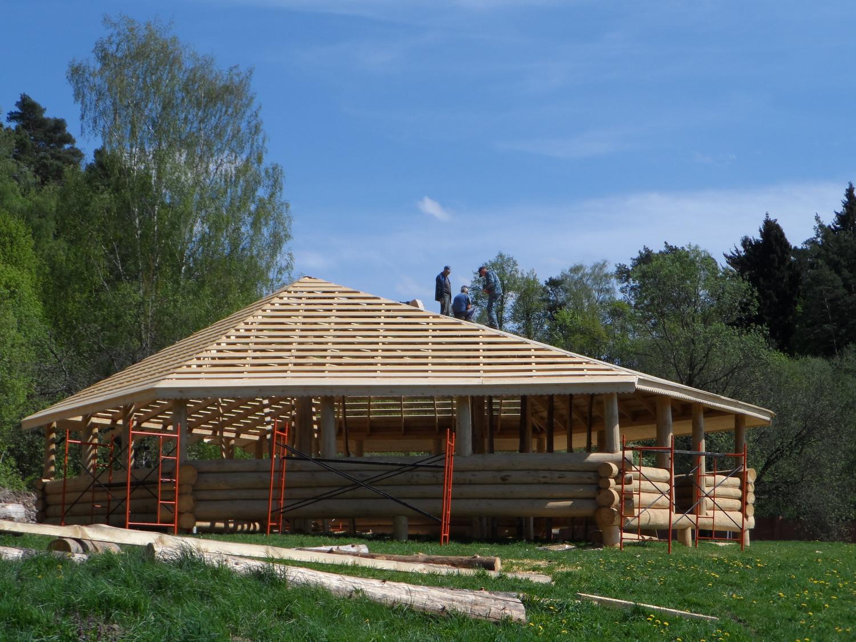 Парк усадьбы Волуево, строительство кафе