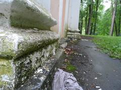 Разрушения усадьбы Валуево 17.07.2014 г.