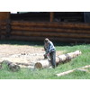 "фото,строительство ""кафе беседка"" на берегу реки Ликова в Валуево"