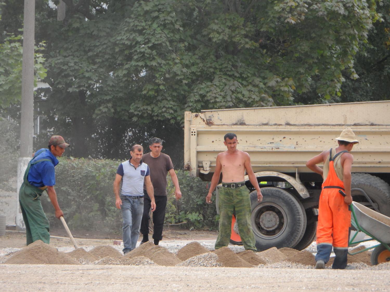 Строительство стадиона школы № 2063 г. Московский