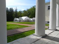 Павильон у центрального здания усадьбы Валуево