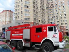 Вызов пожарных из-за задымления мусоропровода в 3 мкр. города Московский