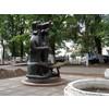 """2-я аллея в 1 мкр. г. Московский, памятник """"КотоПсу"""""""