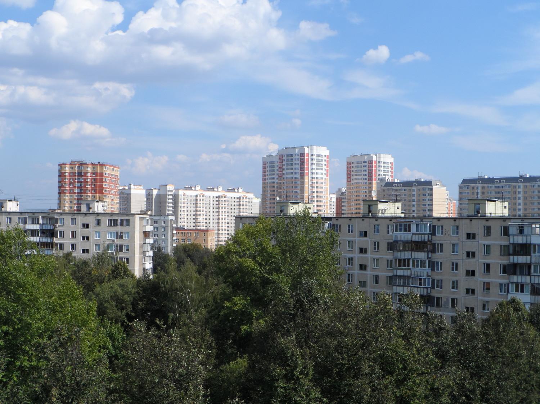 Вид на 5 мкр., из 1 мкр., г. Московский