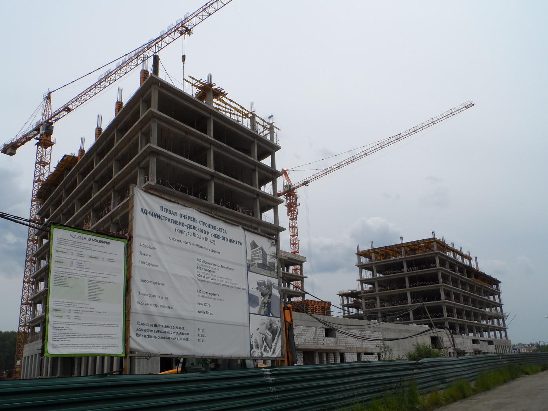 Строительство административно-делового и учебного центра в Дудкино.
