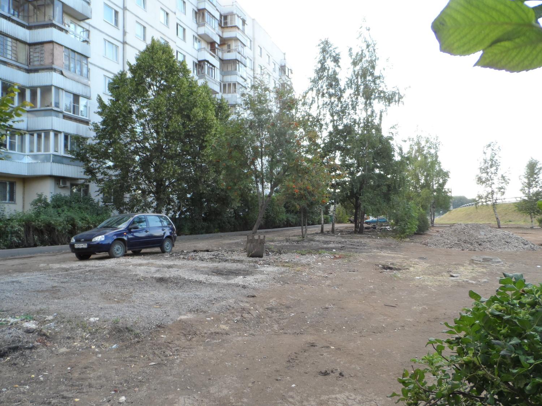 "Благоустройство в 1 мкр. за домом 5""А"" 17.07.2014 г."