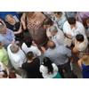 16.07.2014 г., г. Московский, 3 мкр., встреча жителей с главами и зам.главами, и УК, между 9 и 10 д.д., 18-00