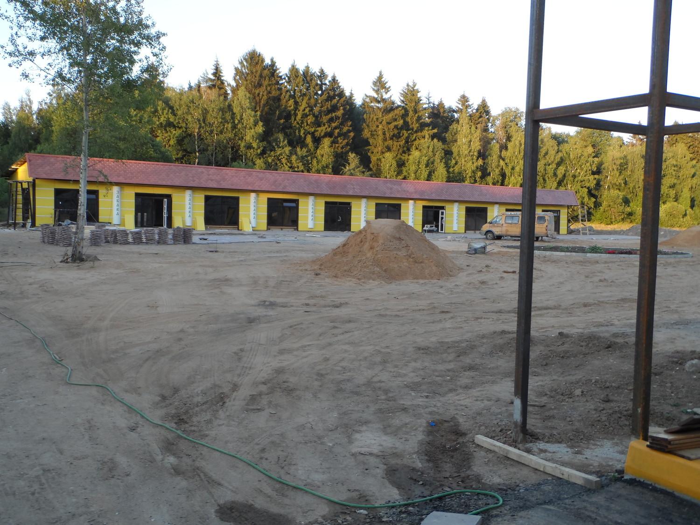 """Строительство многоцелевого досугового дворика """"Забава"""" в Валуево"""