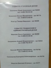 Щербинский р-оный суд г. Москвы (информация о работе) от 2.06.2015 г.
