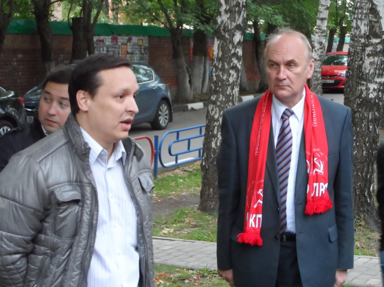 Сагенбаев И. А. и представитель от КПРФ
