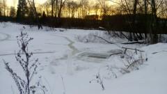 Барановский пруд зимой.
