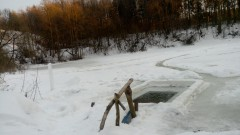 Купель на пруду.