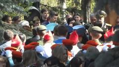 """Построение, праздничное шествие, площадь ДК """"Московский"""""""