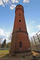 Водонапорная башня у первого дома