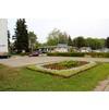 Центральный газон центрального бульвара центра города Московский