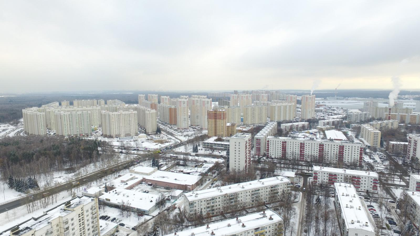 Московский, мкр 1 с высоты