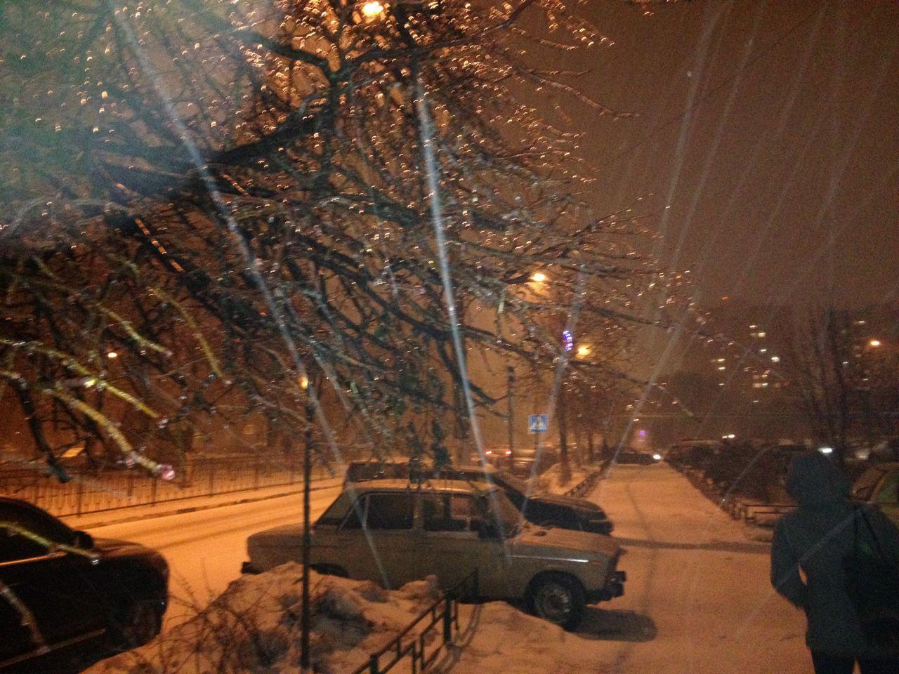 Ледяной дождь на бульваре