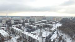 ГородМосковский, микрорайон 1 с высоты