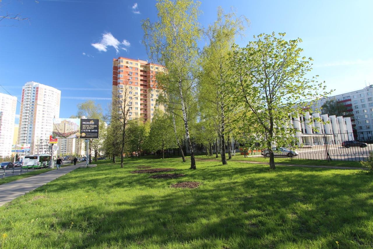 Вид на контору Агрокомбината Московский