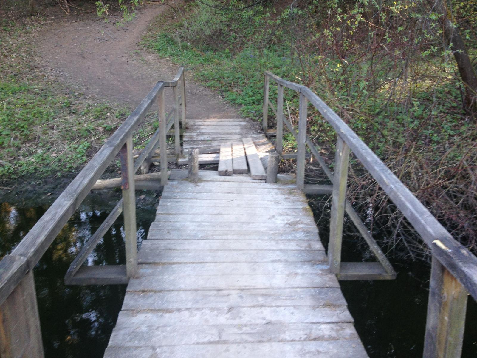 Мост через речку к Шаляпинскому роднику
