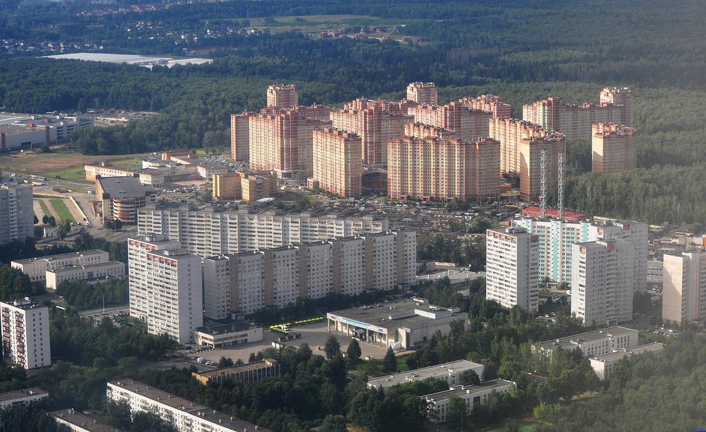 Город Московский с высоты